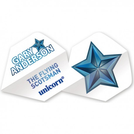"Unicorn Authentic Gary Anderson Big Wing ""Blue Star"" Flights"