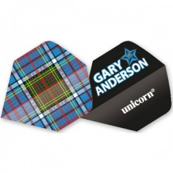 "Unicorn Authentic Gary Anderson Big Wing ""Tartan"" Flights"
