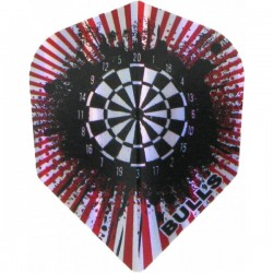 "Bull's Diamond Std.6 ""Dartboard Red"" flights"