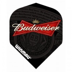 Winmau Budweiser Label Black flights