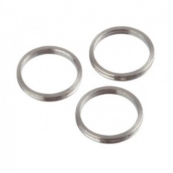 Bull's Shaft-ali rings 2mm Silver 3pcs
